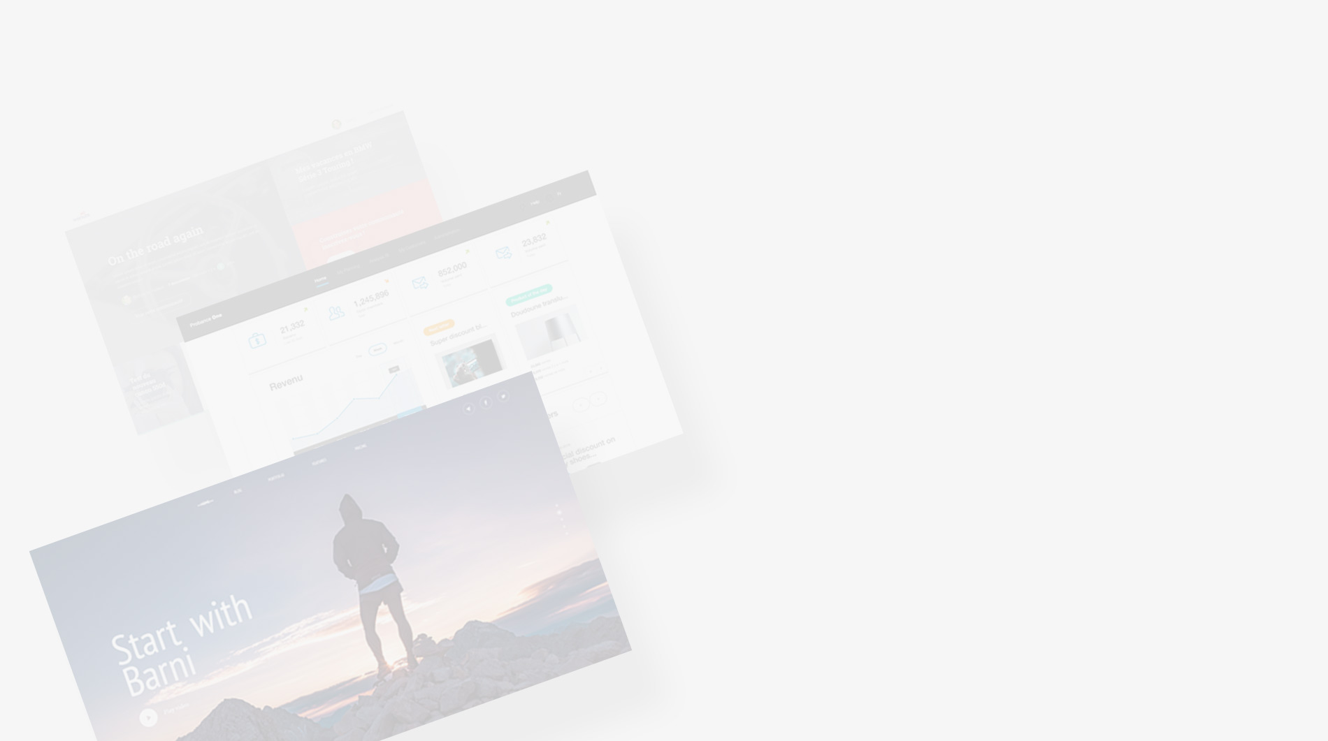 UI Design - fond gris clair