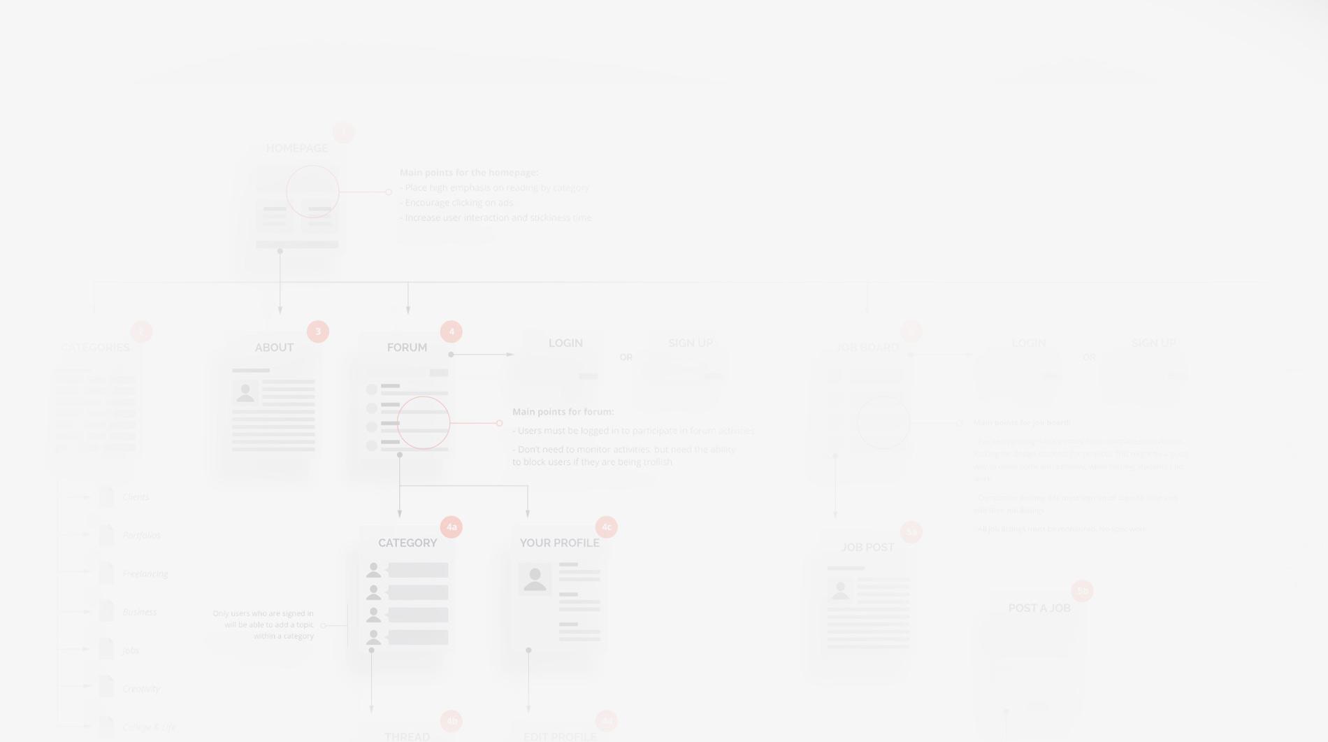 UX Design - fond gris clair
